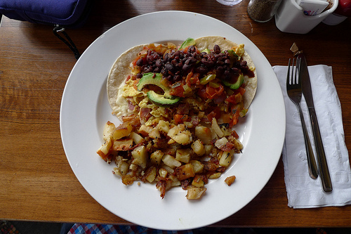 Huevos Rancheros at The Crepevine, San Francisco